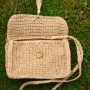 Handbag, woven from natural linen thread. (2)