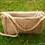 Handbag, woven from natural linen thread. (3)