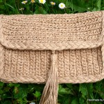 Handbag, woven from natural linen thread. (5)