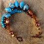 Turquoise Blue Bracelet with Copper (3)