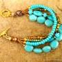 Turquoise Blue Magnesite Bracelet (1)
