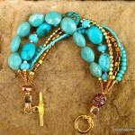 Turquoise Blue Magnesite Bracelet (3)
