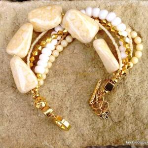 White & Beige Bracelet  (1)