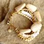 White & Beige Bracelet  (2)