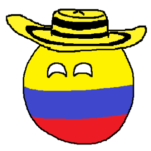 Colombiaball with sombrero vueltiao