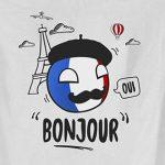 T-Shirt Franceball says Bonjour